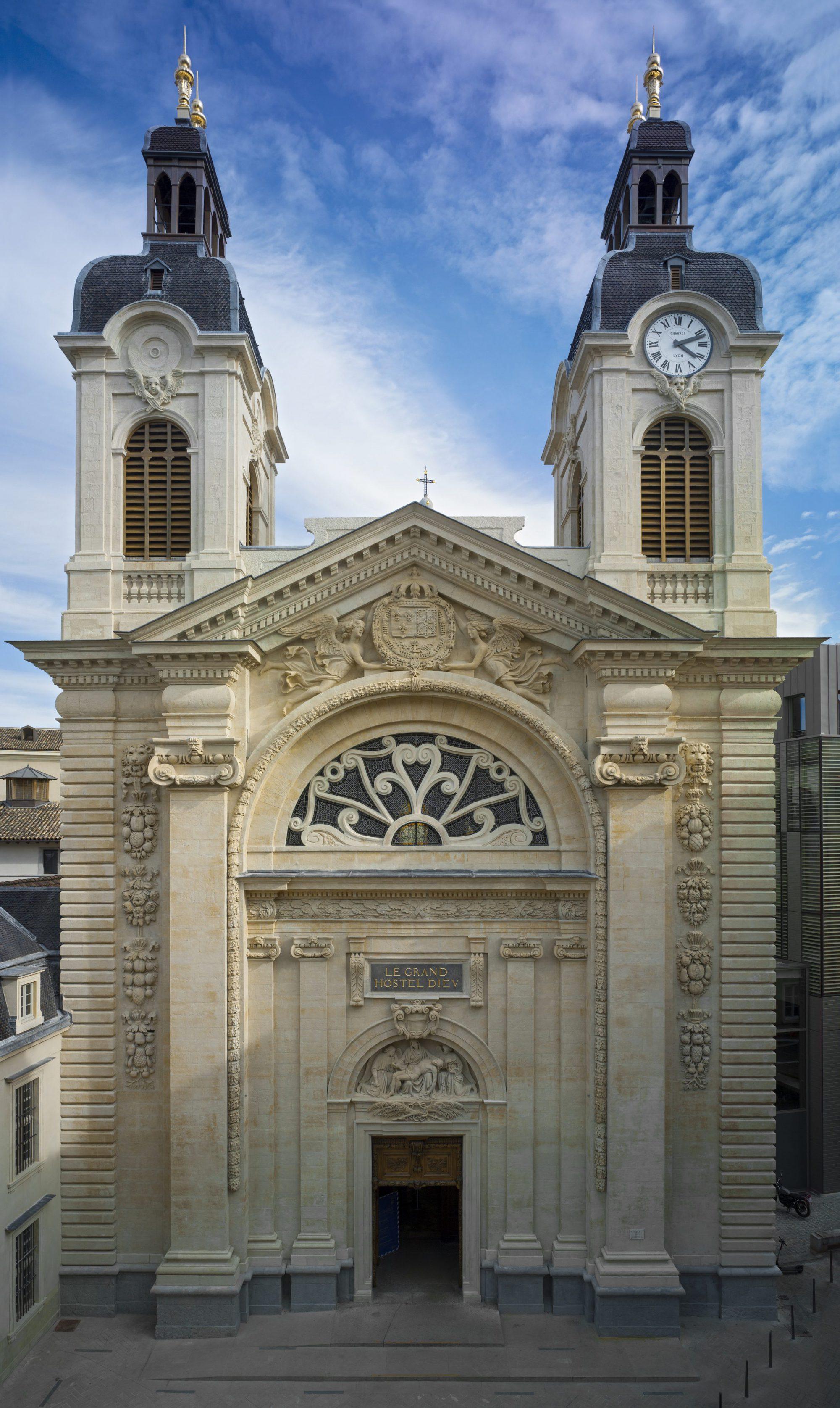 Chapelle de l'Hôtel-Dieu de Lyon : restauration de la façade